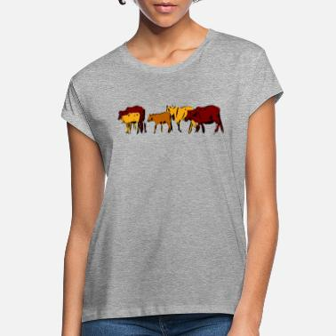 Cattle Herd Cows cattle herd farm farm animals gift - Women's Loose Fit T-Shirt