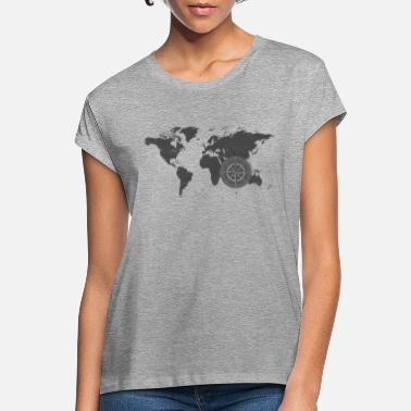 Map with compass 2 - Women's Loose Fit T-Shirt