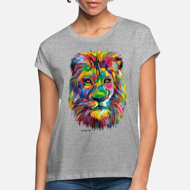 PD Moreno Colorful Lion - Women's Loose Fit T-Shirt