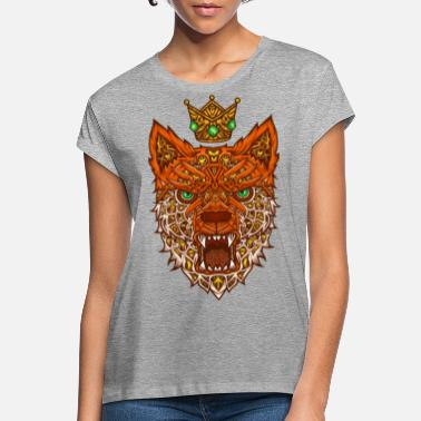 Nano Nano fox with crown - Women's Loose Fit T-Shirt