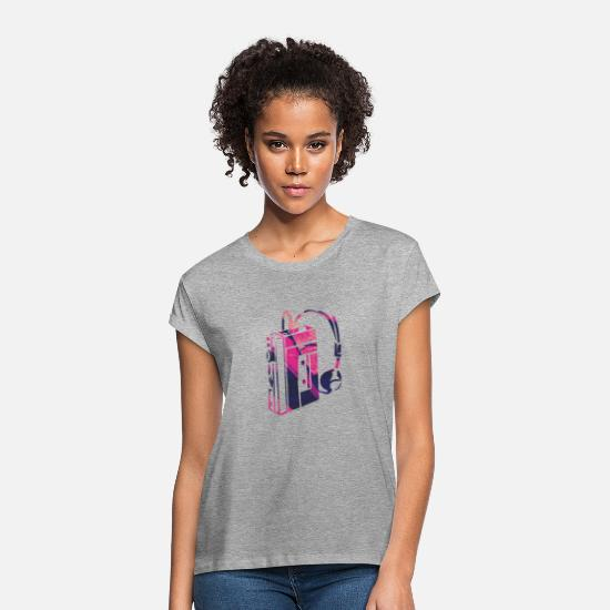 Birthday T-Shirts - personal stereo - Women's Loose Fit T-Shirt heather grey