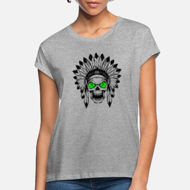 Gave - INDIAN DEAD HEAD green - Oversize T-shirt dame