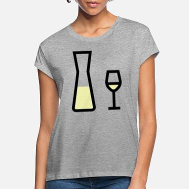 White Wine White wine glass and white wine carafe - Women's Loose Fit T-Shirt