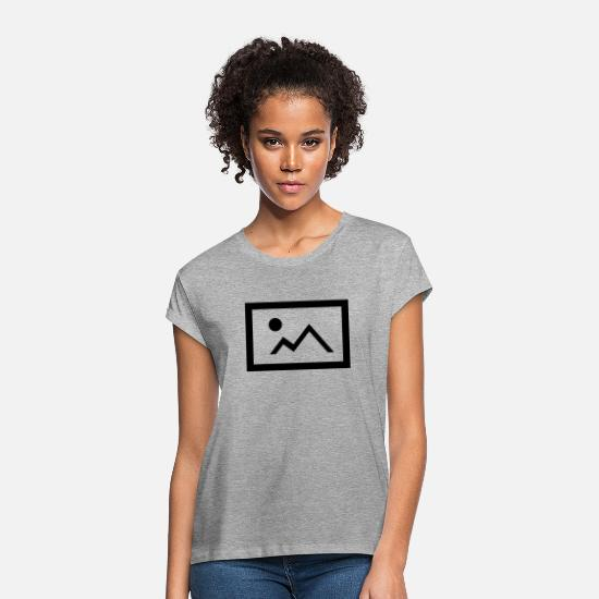 Sol T-shirts - Picture Icon - Oversize T-shirt dame grå meleret