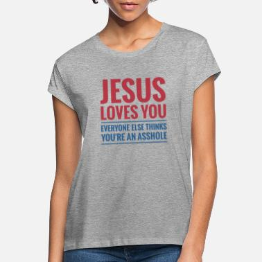 Elsa Jesus Loves You - Oversize T-shirt dam