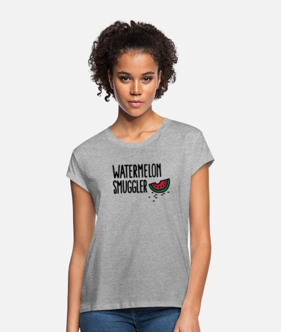 Pregnancy T-Shirts - Watermelon smuggler - Women's Loose Fit T-Shirt heather grey