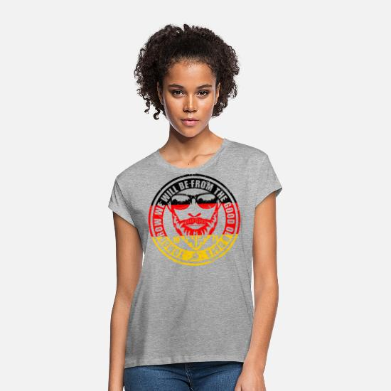 Old Man T-Shirts - Tomorrow we want to be from the good old days - Women's Loose Fit T-Shirt heather grey