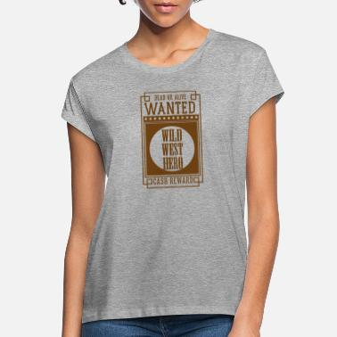 Orchestra WANTED DEAD OR ALIVE - WILD WEST HERO Sepia - Women's Loose Fit T-Shirt
