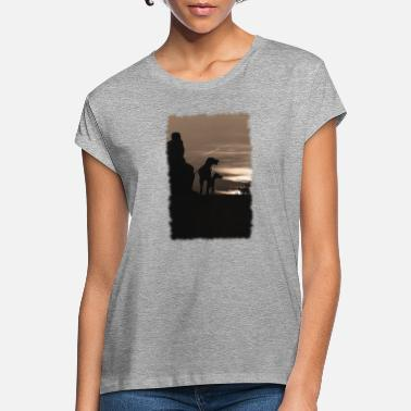 MAN WITH HIS DOGS - Women's Loose Fit T-Shirt
