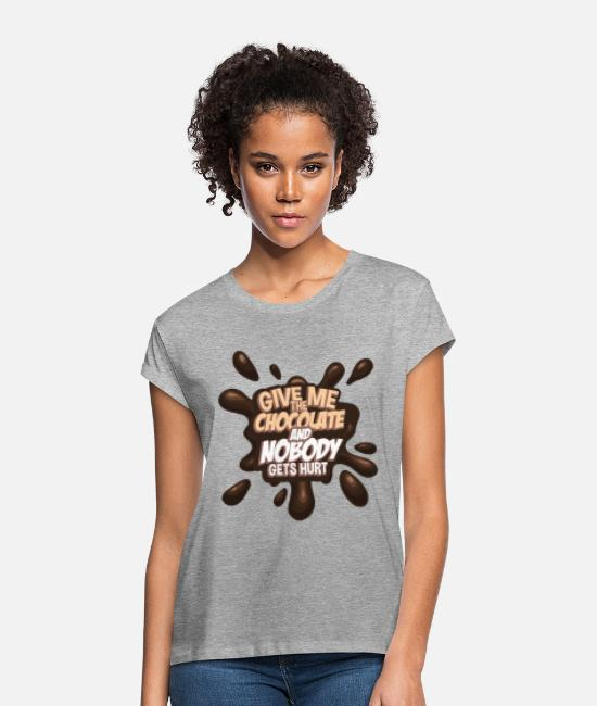 Present T-Shirts - chocolate - Women's Loose Fit T-Shirt heather grey