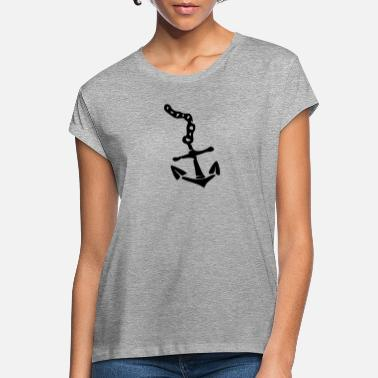 Sail Boat anchor - Women's Loose Fit T-Shirt