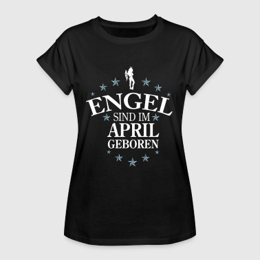 Engel April - Frauen Oversize T-Shirt