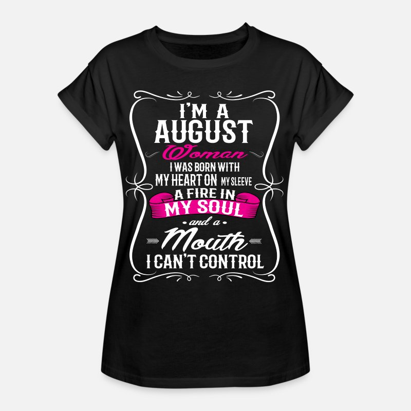 August T-Shirts - AUGUST WOMAN - Women's Loose Fit T-Shirt black