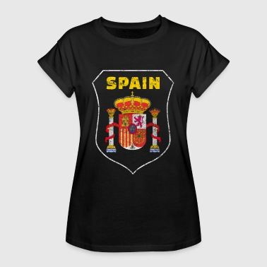Spanien Nationalsymbol Nationalfarben Wappen Welt - Frauen Oversize T-Shirt