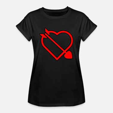 Love Struck Love dart in the heart of a gift - Women's Oversize T-Shirt