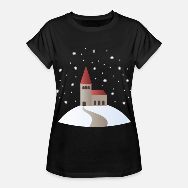 Church Church in the snow - Women's Oversize T-Shirt