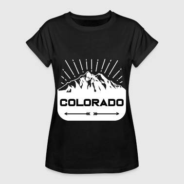 Rockies Retro Vintage Svart Colorado Distressed T-Shirt - Oversize-T-shirt dam