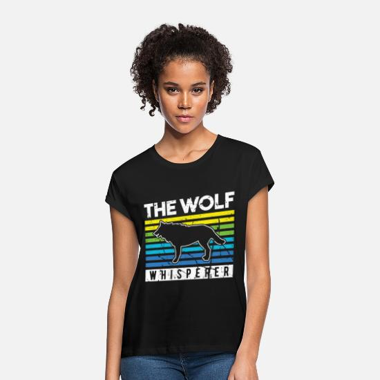 Gift Idea T-Shirts - Wolf pack pact claw forest - Women's Loose Fit T-Shirt black