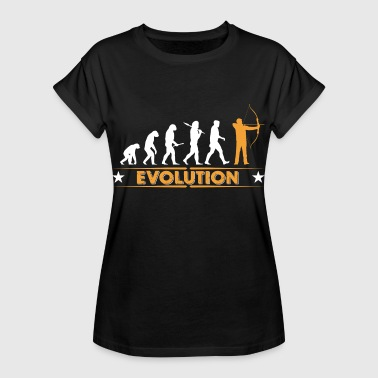 Bogenschiessen Evolution - orange/weiss - Frauen Oversize T-Shirt