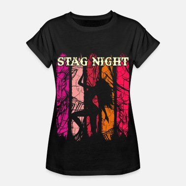 Silhouette Stag Night Party Bachelor Party Pole Dance JGA Marry - Women's Oversize T-Shirt