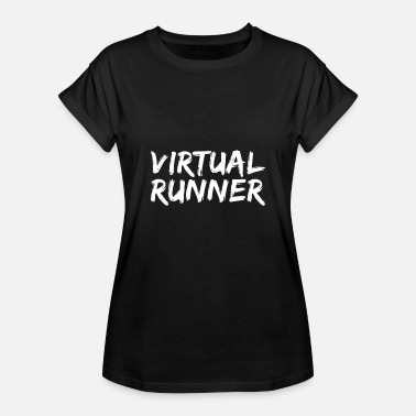 Virtual Virtual runner white - Oversize-T-shirt dam