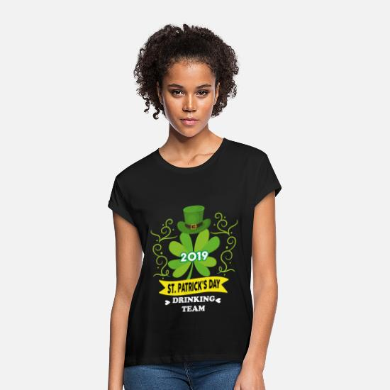 Luck T-Shirts - 2019 st patrick s day - Women's Loose Fit T-Shirt black