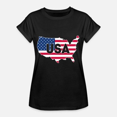 Black Stars USA Amerikka Black Stars ja Stripes Summer - Naisten oversized-t-paita