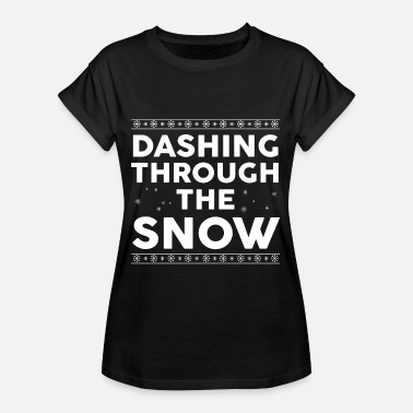 Tumble Christmas - tumbling through the snow - Women's Oversize T-Shirt