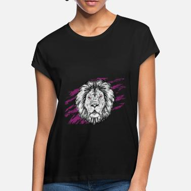 Animal Print Animal Prints - Löwe - Frauen Oversize T-Shirt