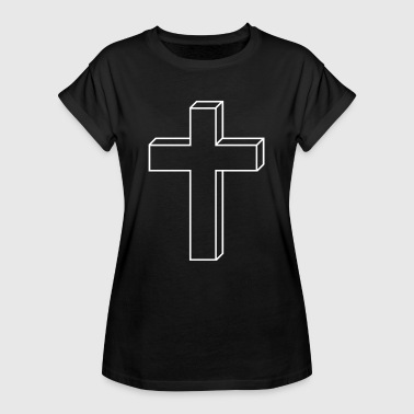 Jesus Crucifix Cross crucifix - Women's Oversize T-Shirt