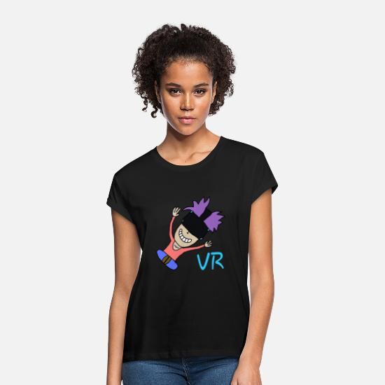 Virtual T-Shirts - vr experience jump virtual reality - Women's Loose Fit T-Shirt black