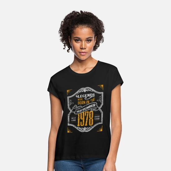 Birthday T-Shirts - Legends Were Born in September 1978 Awesome 40th - Women's Loose Fit T-Shirt black