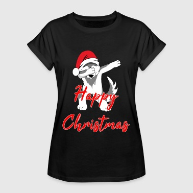 Happy Christmas Christmas DAB Wolf Happy Christmas - Oversize T-skjorte for kvinner
