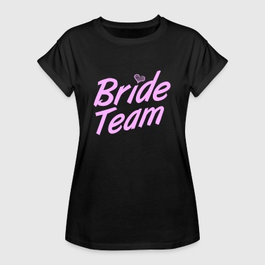 Bitches Get Shit Done Bride's Team Funny Bachelorette Party Hen Girls - Women's Oversize T-Shirt