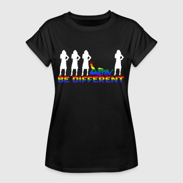 Gay Pride - Frauen - Be different - Vrouwen oversize T-shirt