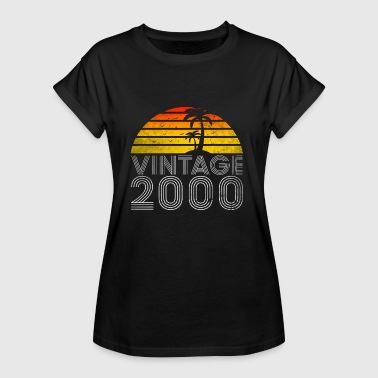 18th birthday t shirt vintage 2000 gift - Women's Oversize T-Shirt