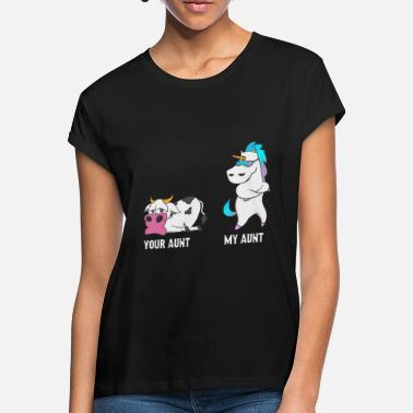 My Aunt Unicorn Unicorn Cow Your tante My tante Gift NL - Vrouwen oversized T-Shirt