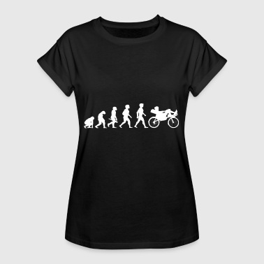 Evolution recumbent recumbent bike bicycle cycling - Women's Oversize T-Shirt