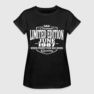 Made In 1987 Limited edition june 1987 - Women's Oversize T-Shirt