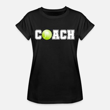 Us Open Tennis Coach Trainer med Tennis Ball Collage Design - Dame oversize T-shirt
