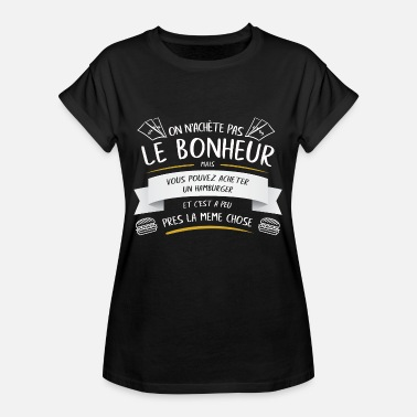 Patty Burger Patty Drôle Cadeau - T-shirt oversize Femme