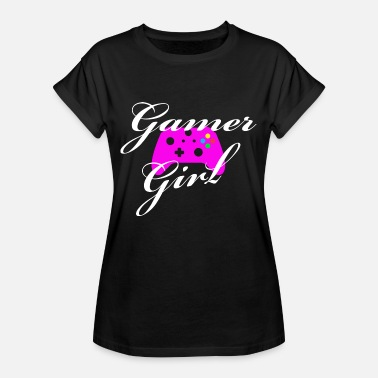 Gamer Girl Controller Console Video Game Gift - Women's Oversize T-Shirt