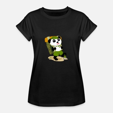 Expedition Camping Panda - Frauen Oversize T-Shirt