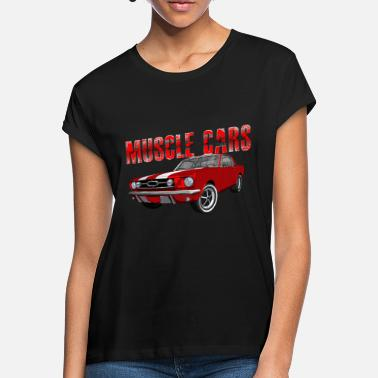 Muscle Unit Muscle Cars - V8 US Muscle Classic Car - Women's Loose Fit T-Shirt