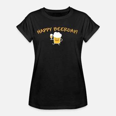 Tulpe Alkohol Happy Beerday (b) - Frauen Oversize T-Shirt