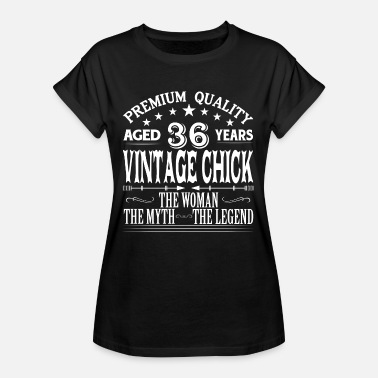 1981 VINTAGE CHICK AGED 36 YEARS - Women's Oversize T-Shirt