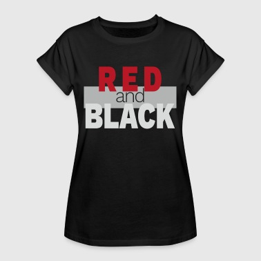 Red Sox Red and black black - Women's Oversize T-Shirt