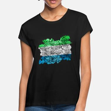 Sierra Sierra Leone vintage flag - Women's Loose Fit T-Shirt