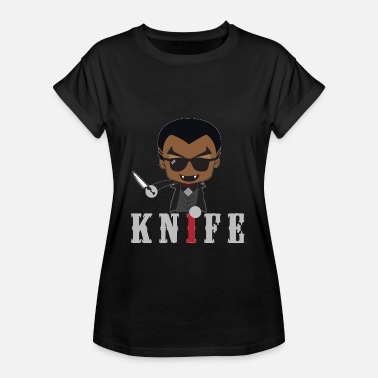 Knife Party Little Knife / Daywalker Vampyr Teen Presentasjon - Oversize T-skjorte for kvinner