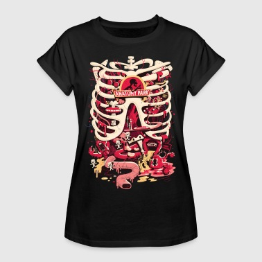 Rick And Morty Anatomy Park Skeleton - Vrouwen oversize T-shirt
